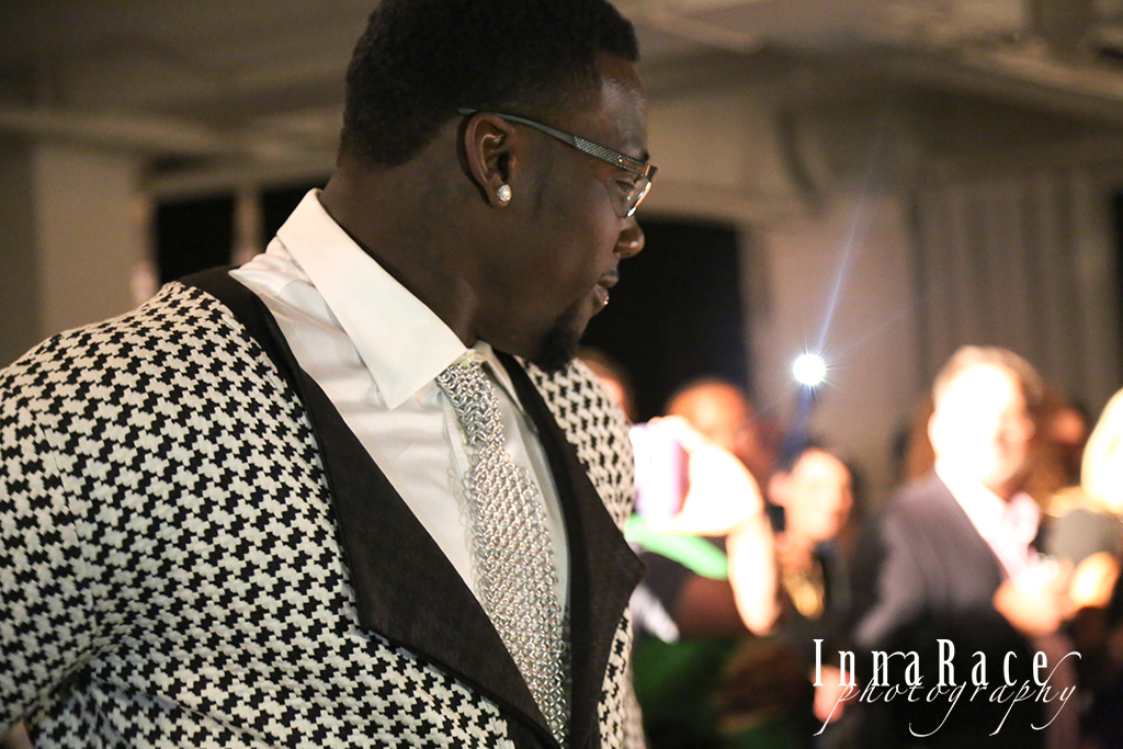 Star Guest Model: Jason Pierre Paul, Defensive End New York Giants. Dressed by Ray Vincente